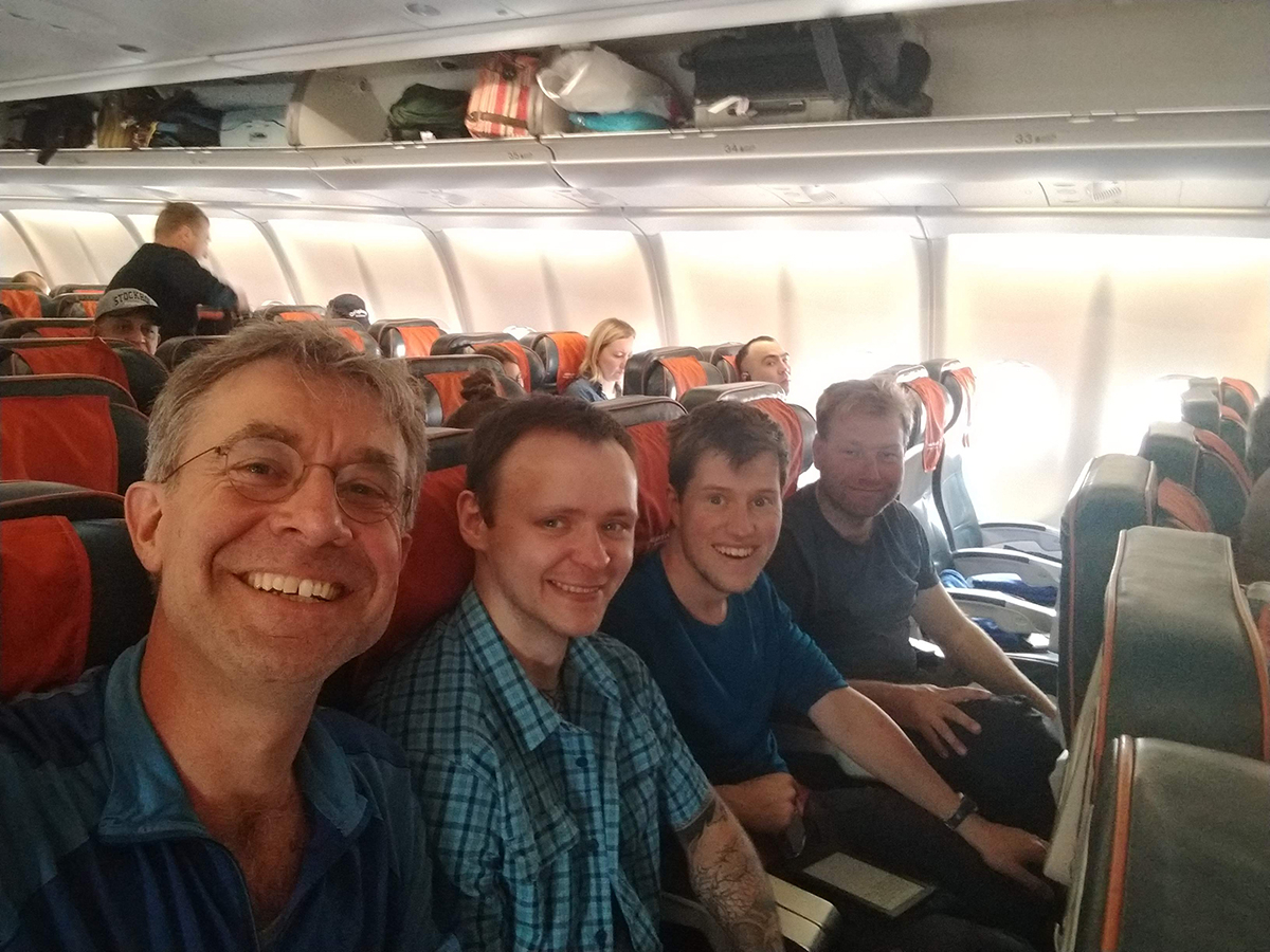 30 May 2019 NIOZ crew flies to Russia (Jan van Gils, Misha Zhemchuzhnikov, Thomas Lameris, Job ten Horn).