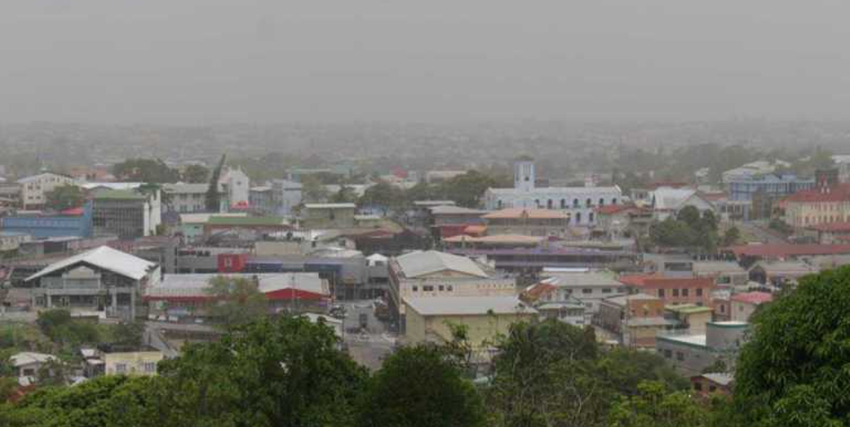 Hazy skies in San Fernando on Trinidad & Tobago on 21 June (image: T&T met office)