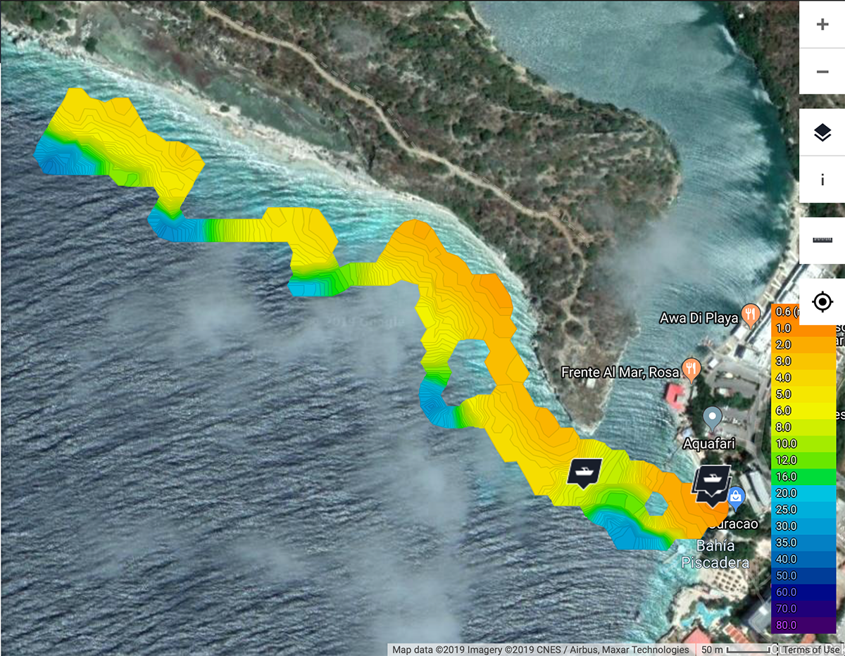 Bathymetric survey of the coast of Curacao, Image: Paolo Stocchi