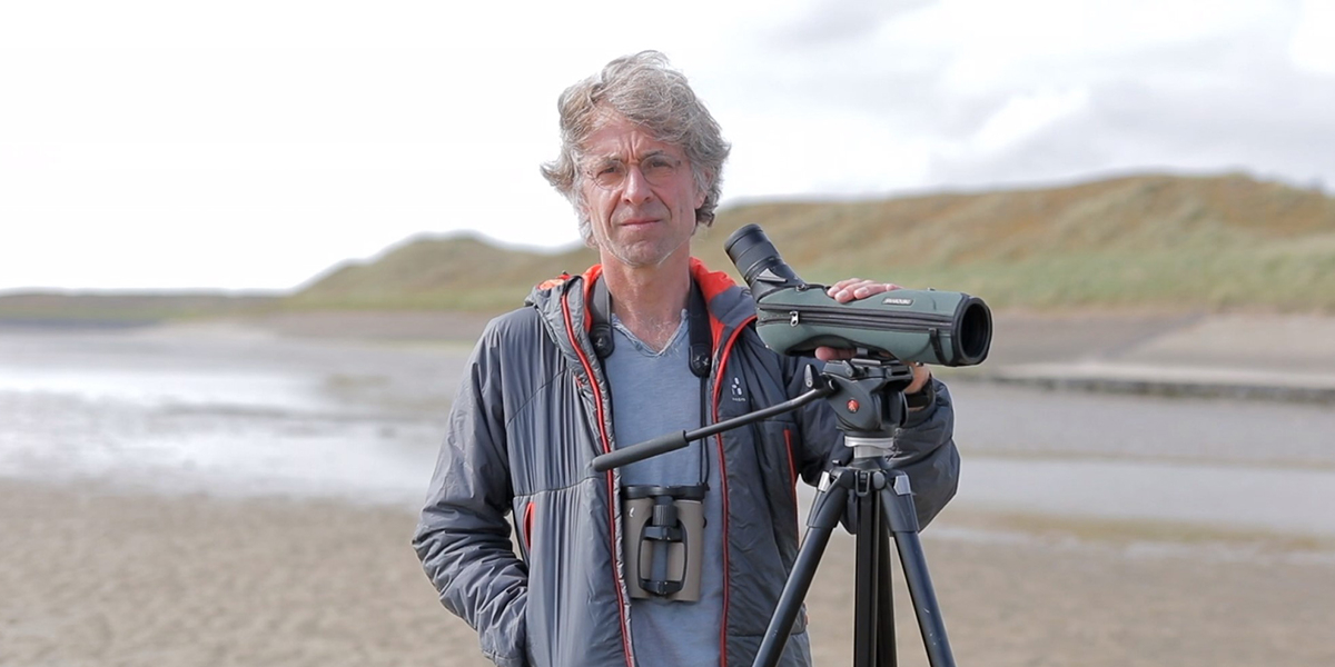 Van Gils is motivated to show students how migratory birds expose the worldwide connection of ecosystems. Photo: Anneke Hymmen