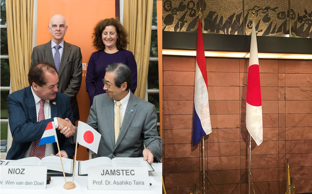 New chapter in research cooperation between Netherlands and Japan during the visit of minister Ingrid van Engelshoven. Photo: Hirohumi Kudoh & Wim van den Doel.