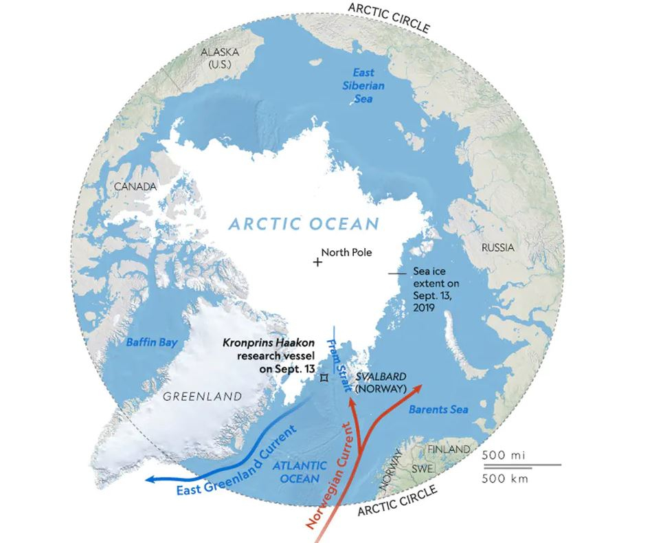 National Geographic: Why is an ocean current crtitical to world weather losing steam? Scientists search the arctic for answers.