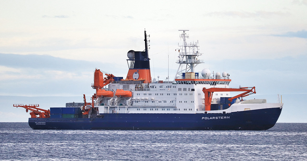 The research icebreaker Polarstern from the German Alfred Wegener Institute (AWI).