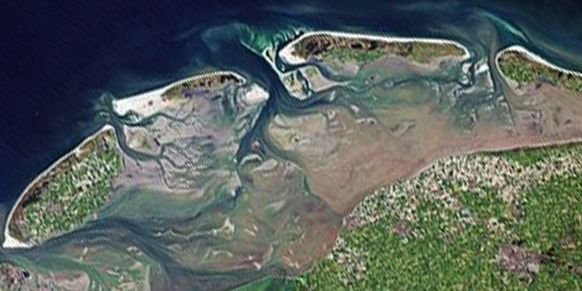 The Dutch Wadden Sea area - Google earth.