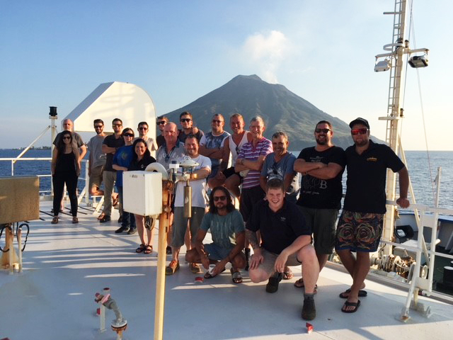 The crew of the Microplastics Transit Cruise.