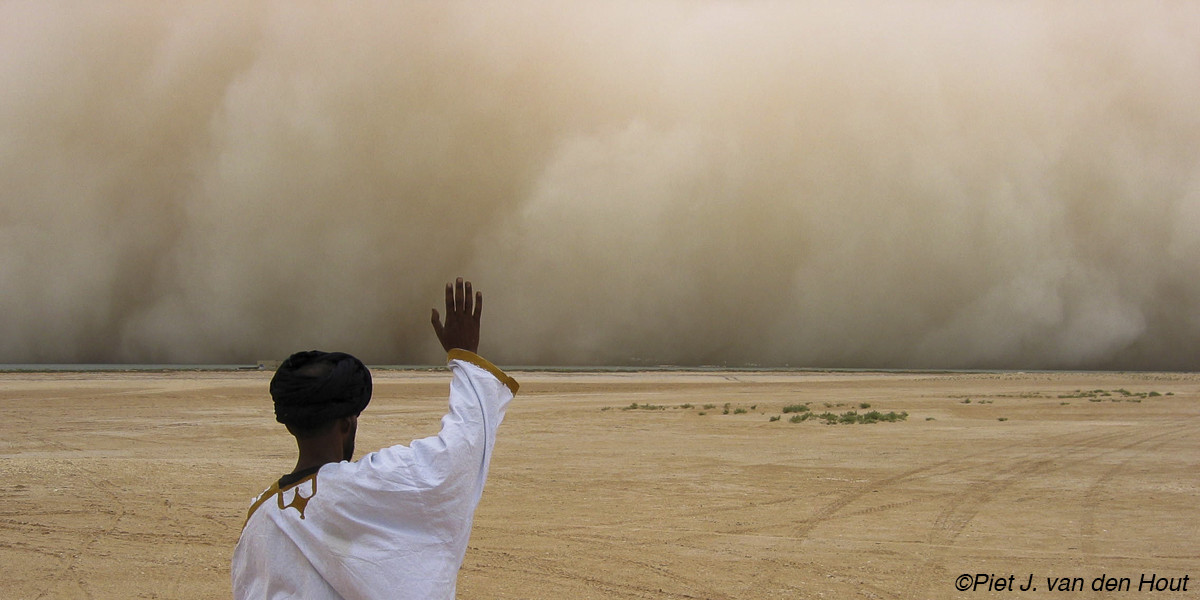 Dust storm in West-Africa.