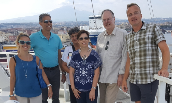Local scientists from the University of Catania visiting Pelagia