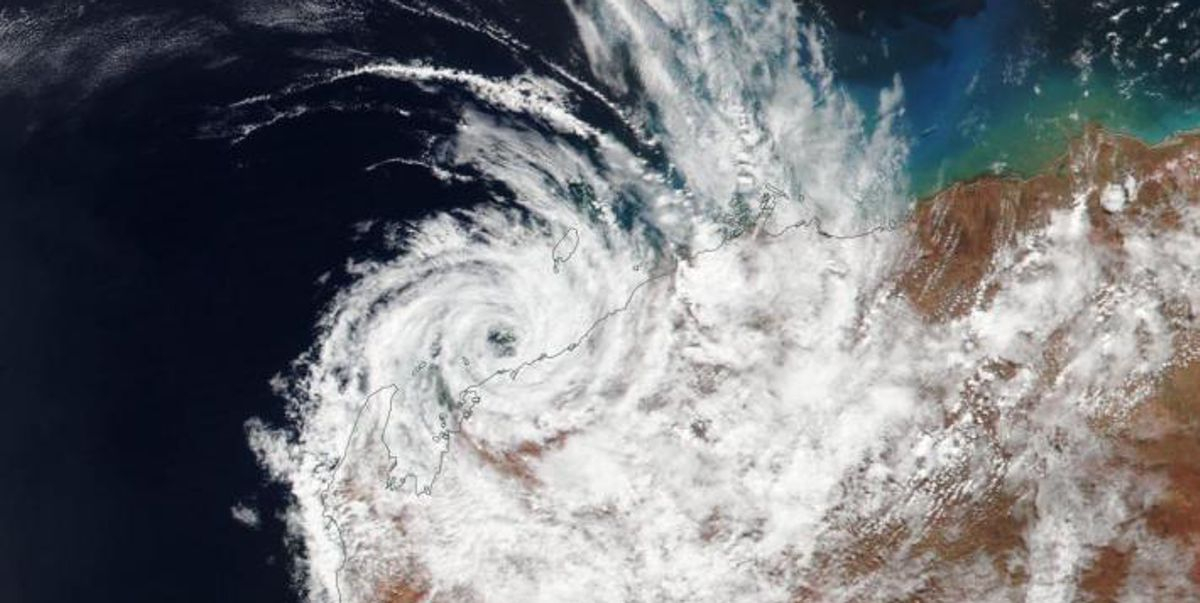 NASA satellite image of Tropical Cyclone Veronica (March 2018)