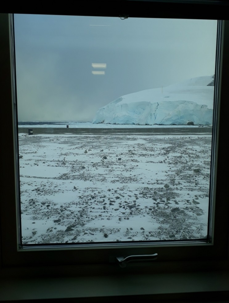 The view from our office in the Bonner lab.