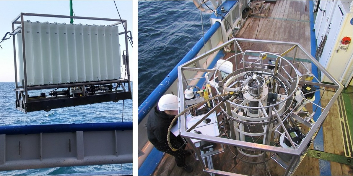 NIOZ 'Pristine' CTD frame and in-situ pump to take water samples at different depths (Day 2)