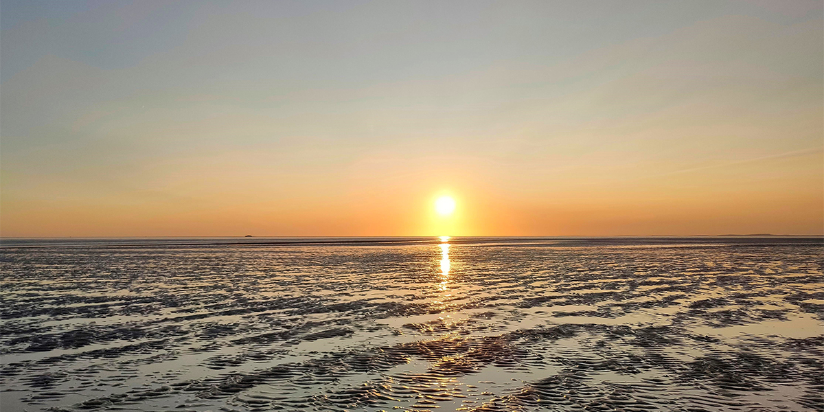 Incredible sunset on the mudflats