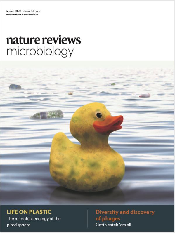 Read the cover story on microplastics by Linda Amaral-Zettler (March 2020 edition of Nature Reviews Microbiology)
