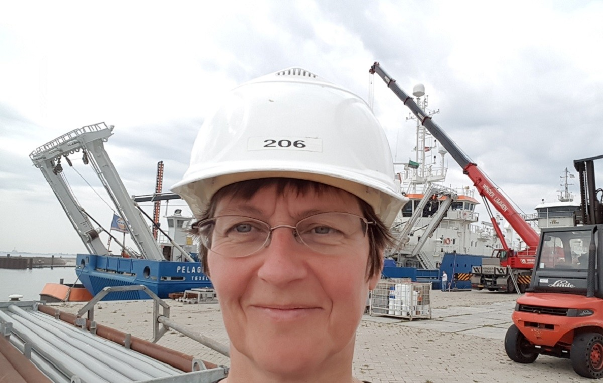 Selfie taken after the Northsea Cruise, June 2017, with the RV Pelagia.