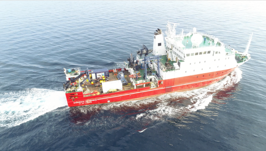 Research vessel Sarmiento de Gamboa, operated by the marine technical unit of the Spanish Council for Scientific Research CSIC.