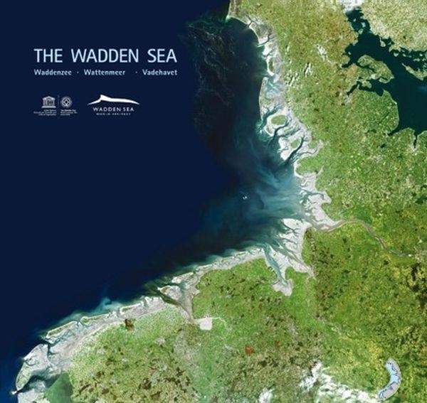 Satellite image of the Wadden Sea.