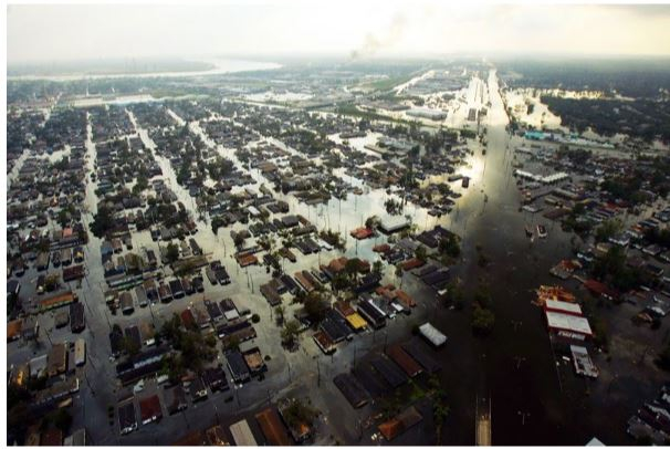 Flooding in New Orleans after Hurricane Katrina (2005), credit: Michael Appleton/NY Daily News Archive/Getty