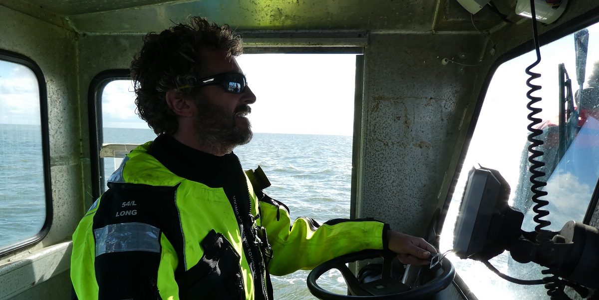 Captain of RV Navicula Bram Fey