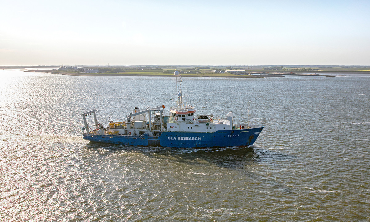 RV Pelagia near the NIOZ harbour on Texel, photo: Flying Focus