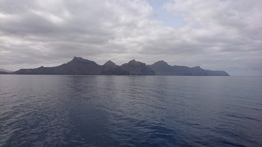 View on the northern coast of the island Sao Vicente
