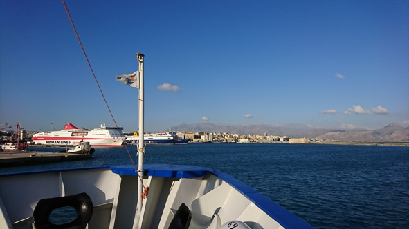 RV Pelagia enters Heraklion harbour