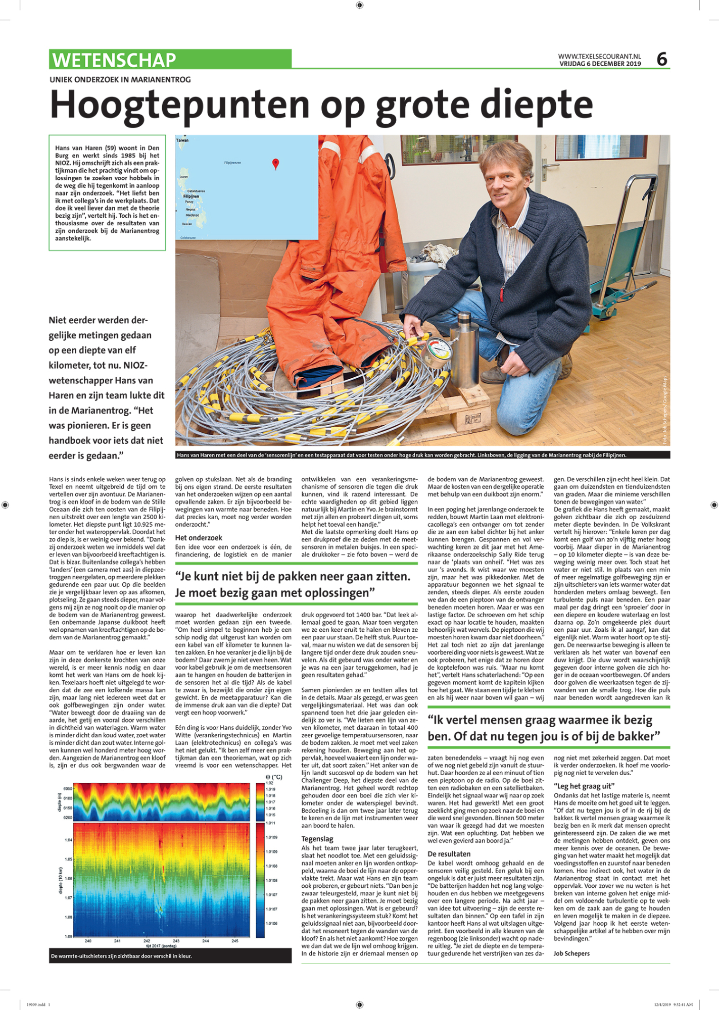 Interview Texelse Courant 6 december 2019